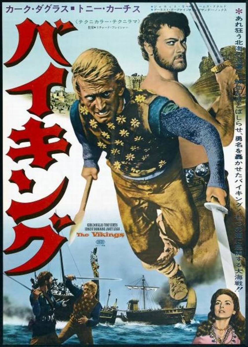 The Vikings (1958) Japanese poster