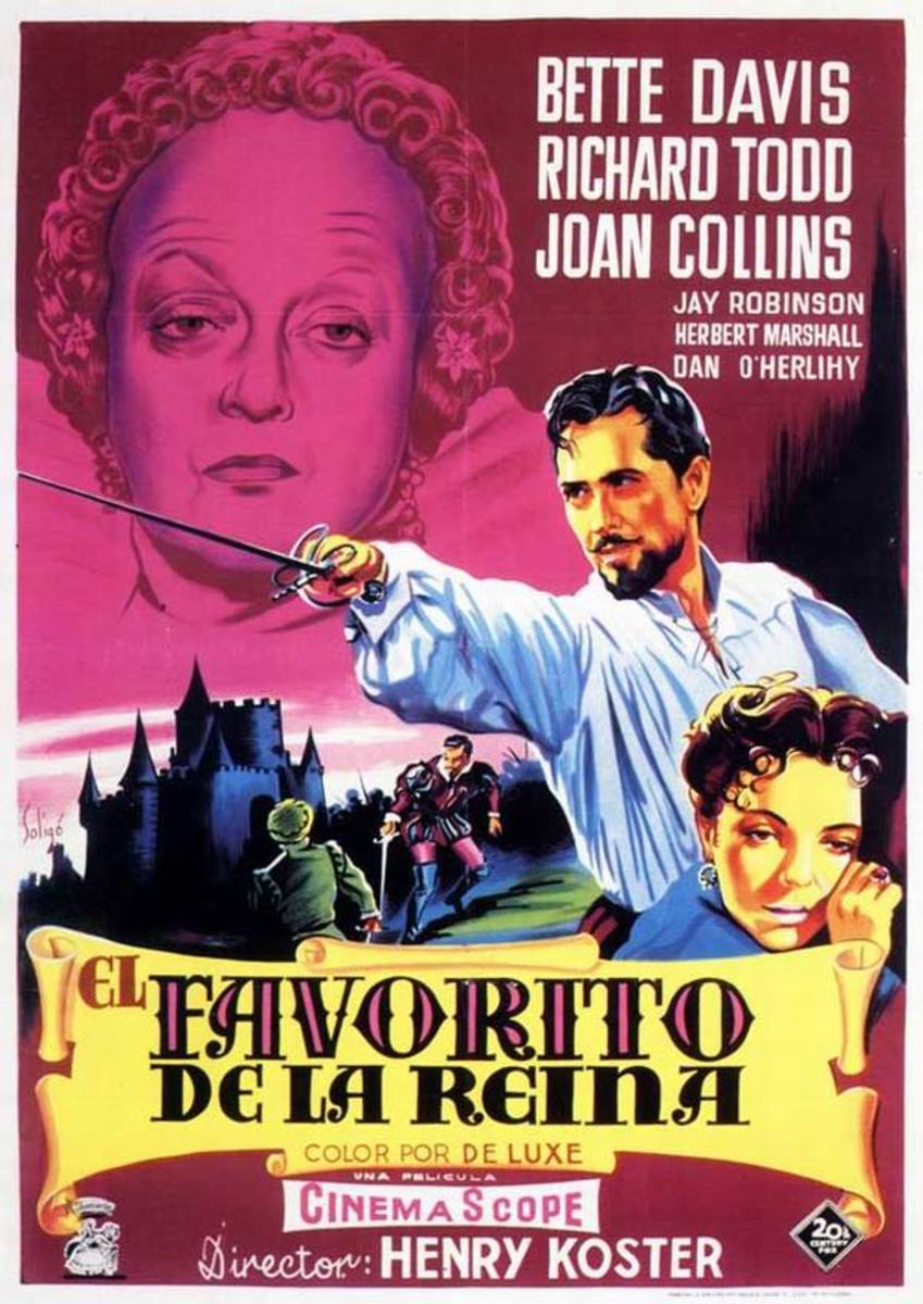 The Virgin Queen (1955) Spanish poster