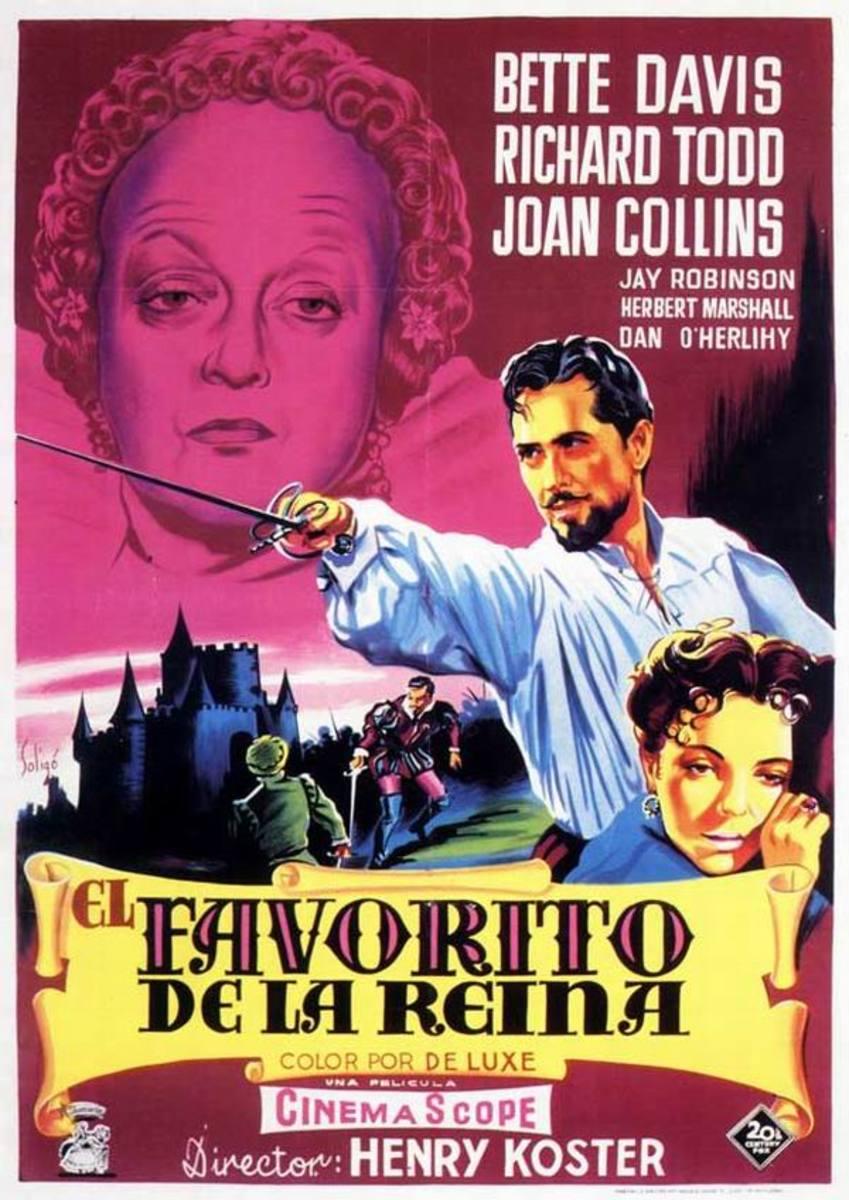 The Virgin Queen (1955) Spanish poster