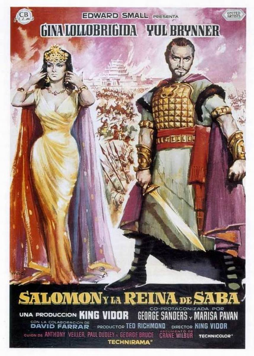 Solomon and Sheba (1959) Spanish poster