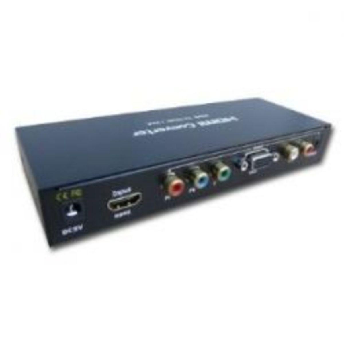 HDCP HDMI to VGA + SPDIF RGB Component Ypbpr Converter v1.3b