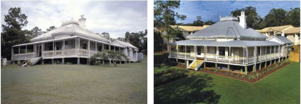 """Hughesville"" before renovation in 1995 (left) and after renovation in 2005 (right)."
