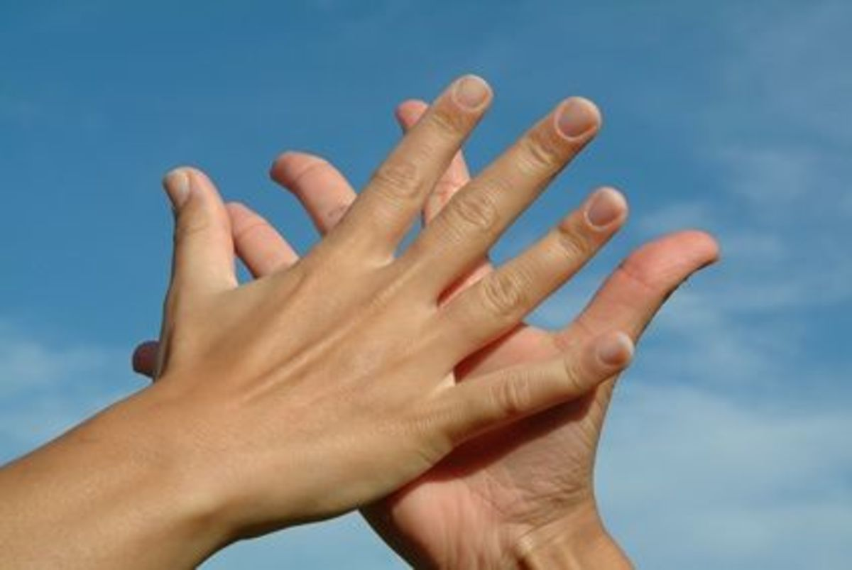 Hands reveal much, shape, size, -  these aspects including the ever-changing lines which reveal the pattern of our thought