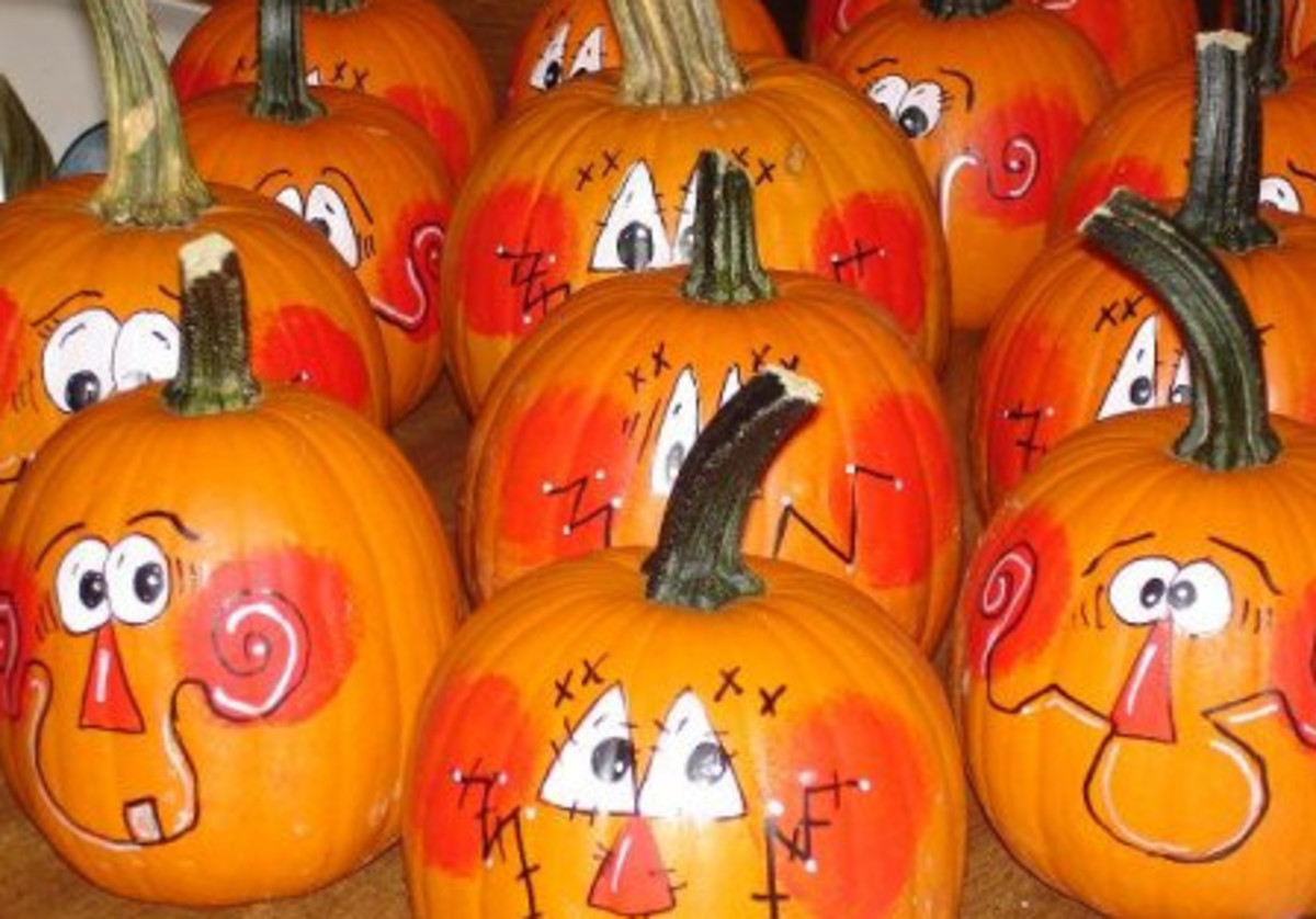 gallery for painted pumpkin faces ideas