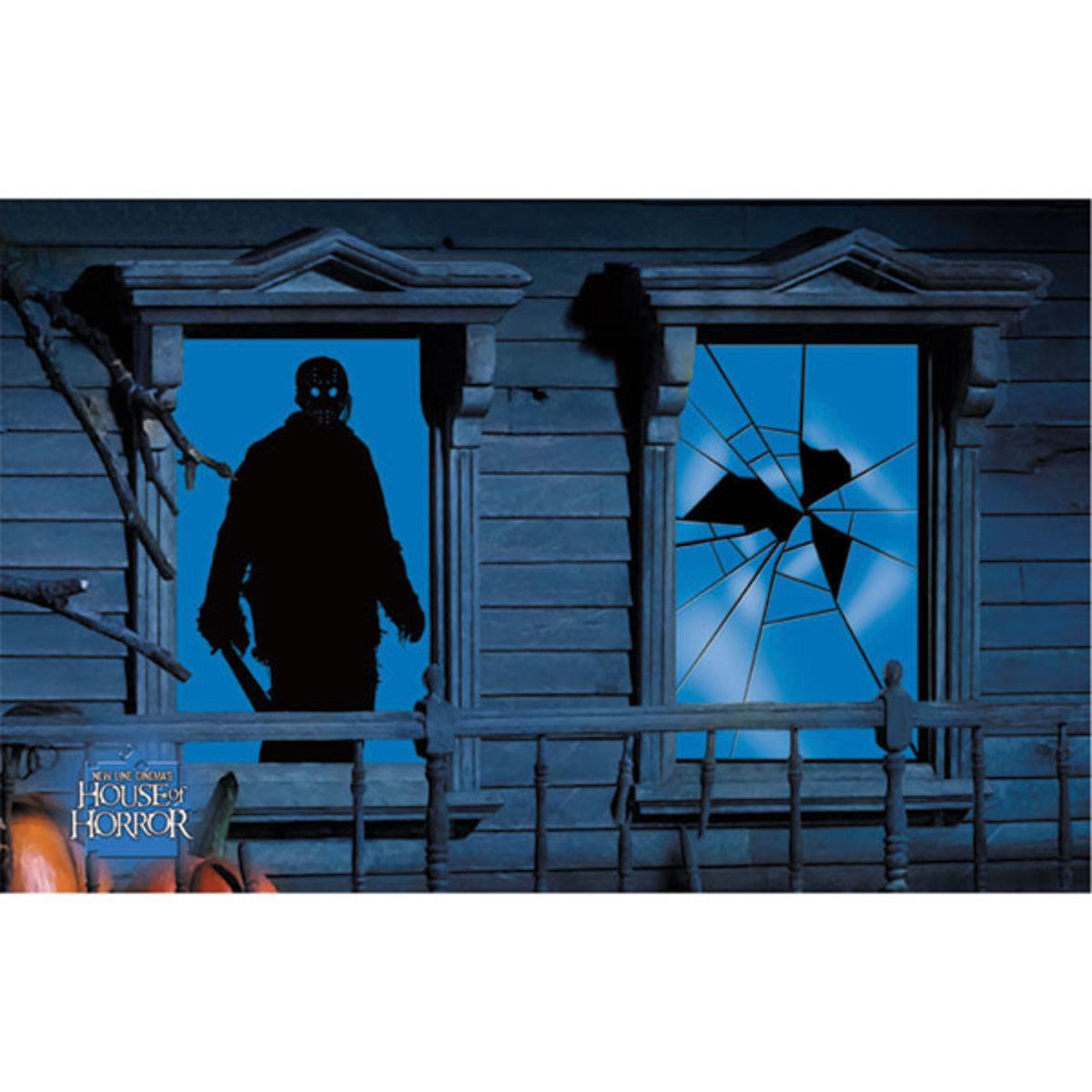 jason from halloween window shadow
