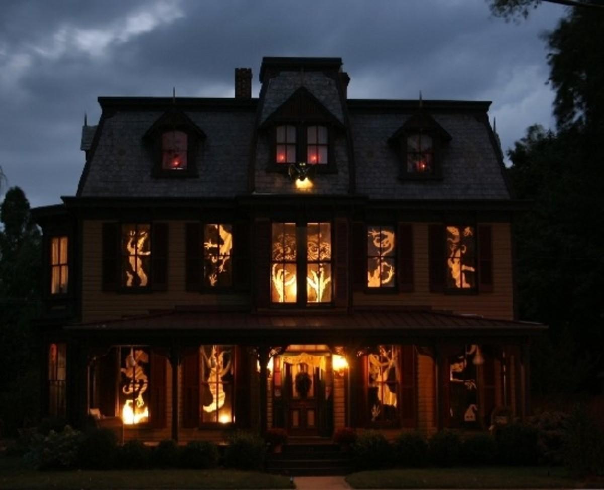 halloween window shadows - Halloween Window Decals