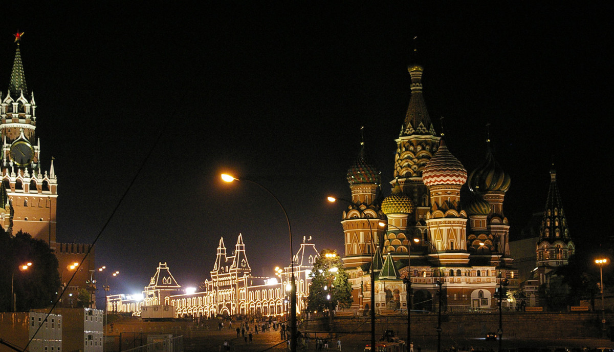 The Beautiful Red Square at Night!