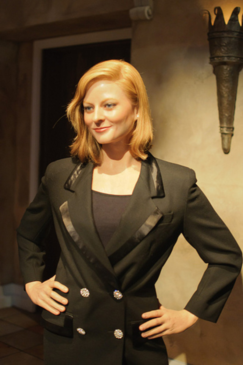 Jodie Foster at Madame Tussaud's.