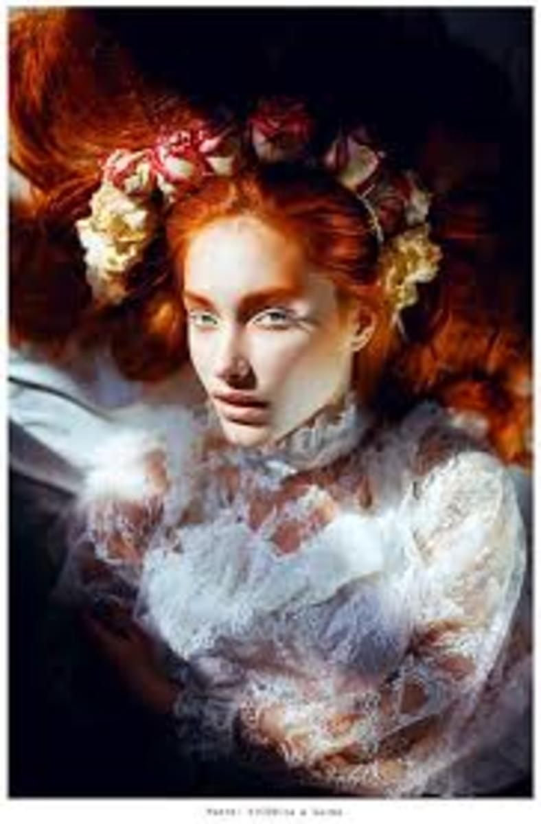 The Banshee in Ireland has long red hair, snow-white skin and is a symbol of doom, gloom and death. Most people are terrified of her.