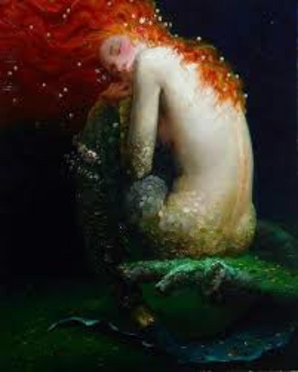 Irish Banshee is thought to really be a fairy woman and not in any way human at all.