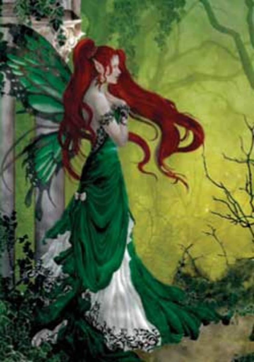 The Irish Banshee was believed to not be human but a member of the fairy folk.