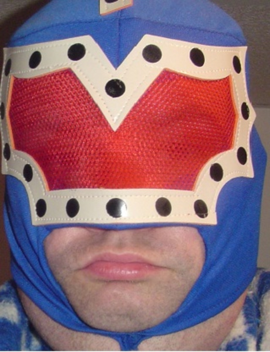 Sometimes you just can't fight the urge to don the luchador mask!