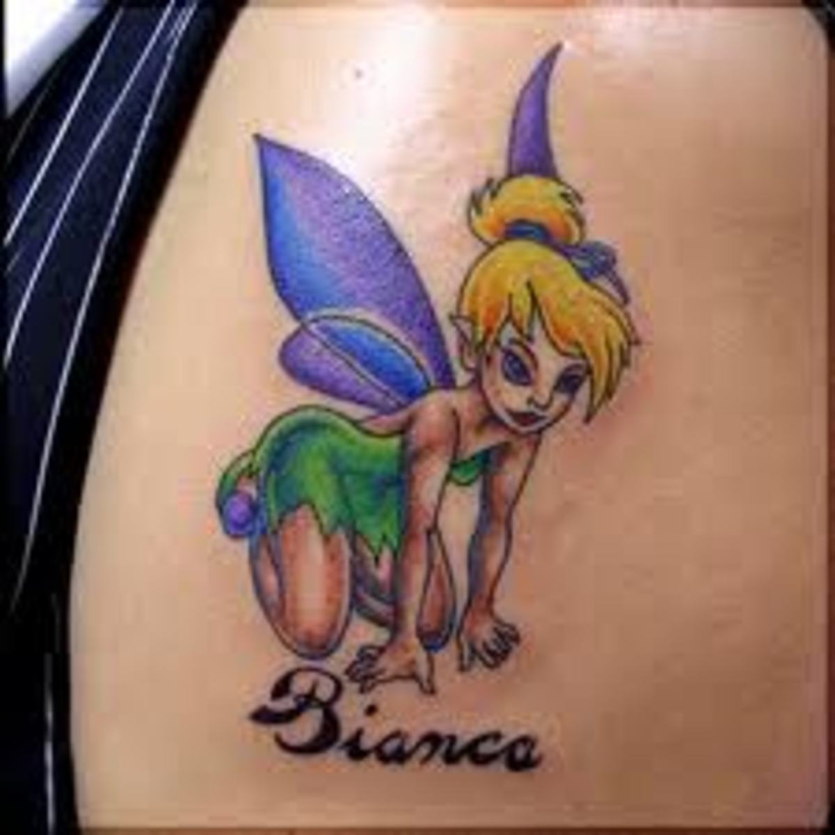 Tinker Bell Tattoos And Designs-Tinker Bell Tattoo Meanings And Ideas-Tinker Bell Tattoo Pictures