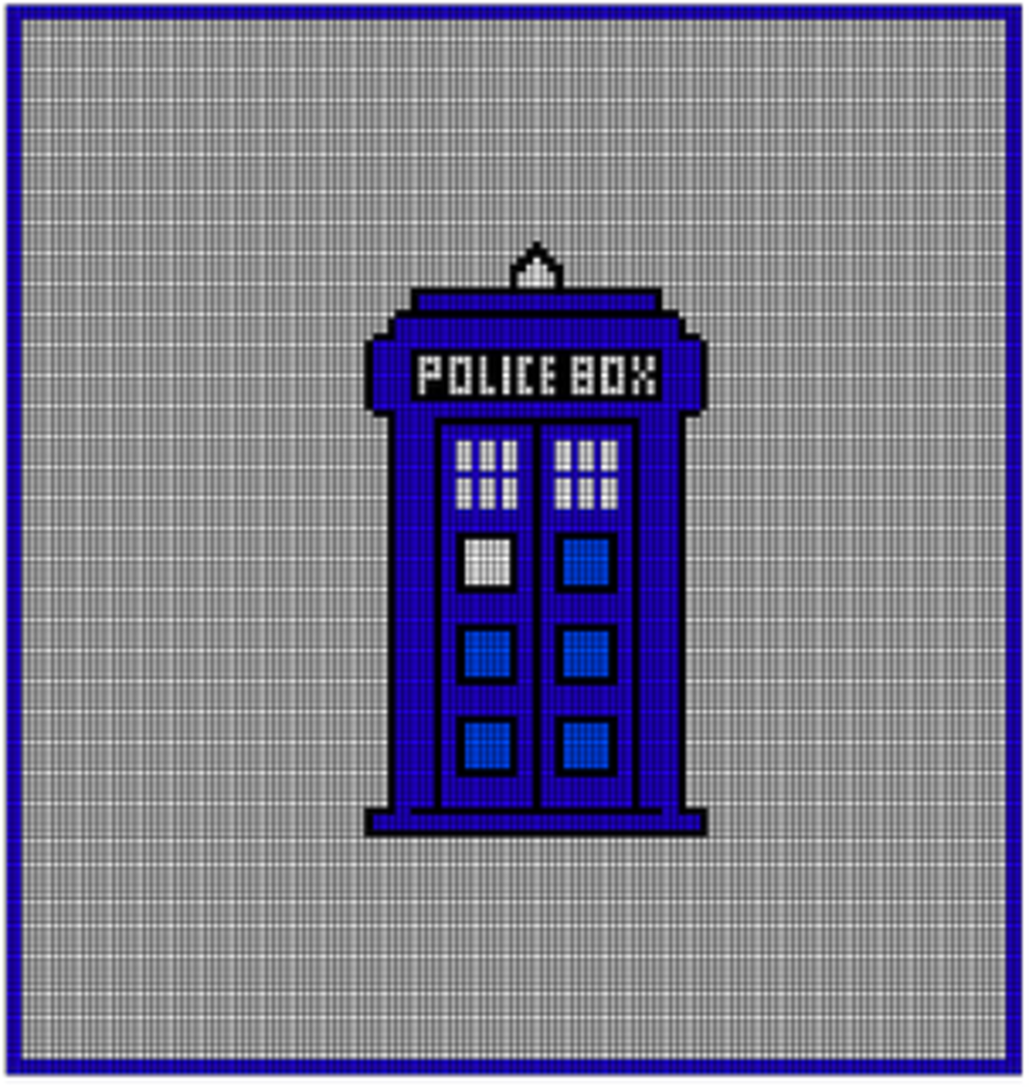 TARDIS blanket chart