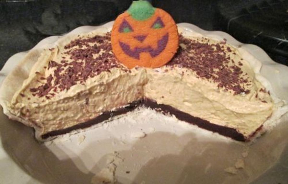 Pumpkin Mousse with Chocolate Ganache Layer