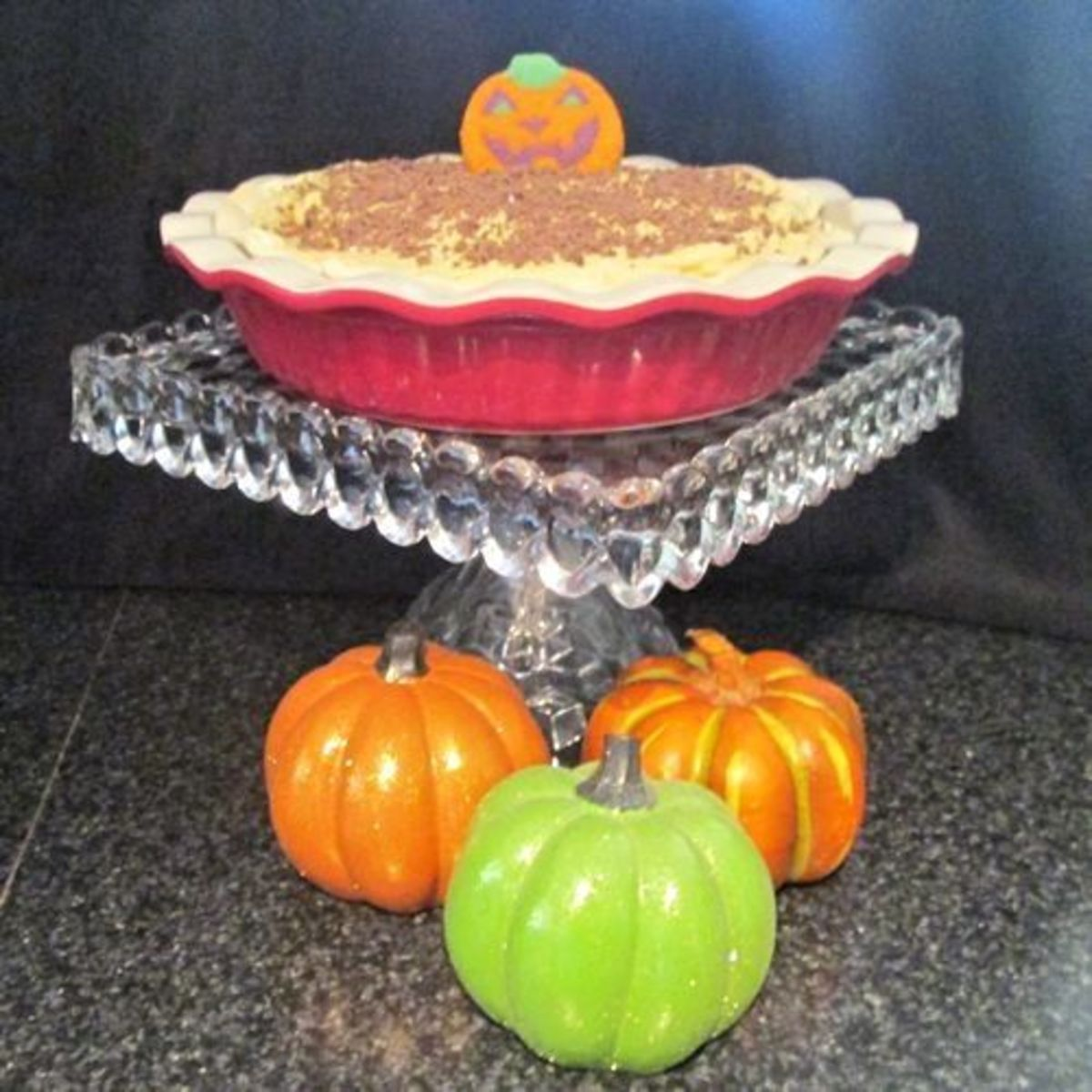 Pumpkin Mousse Pie on Stand