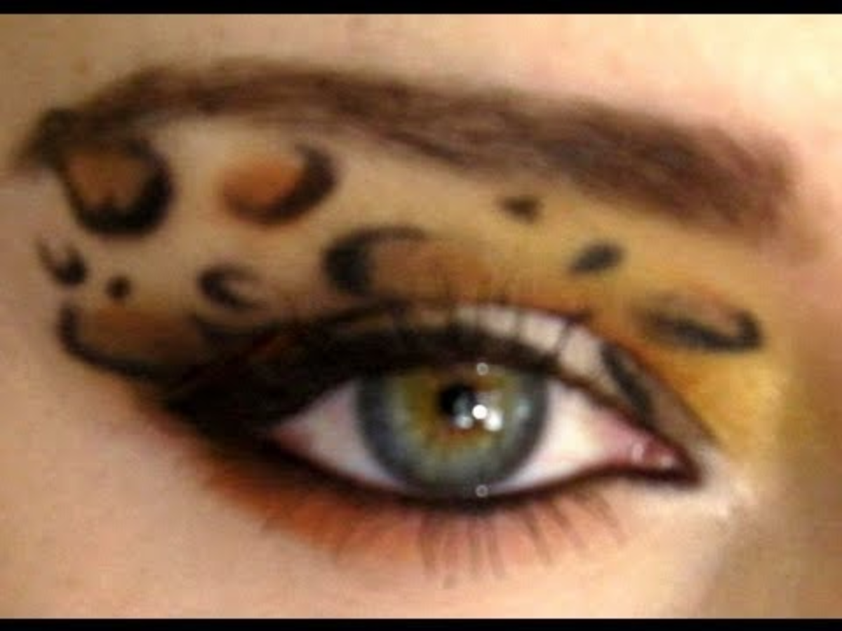 How to do cheetah style eye shadow