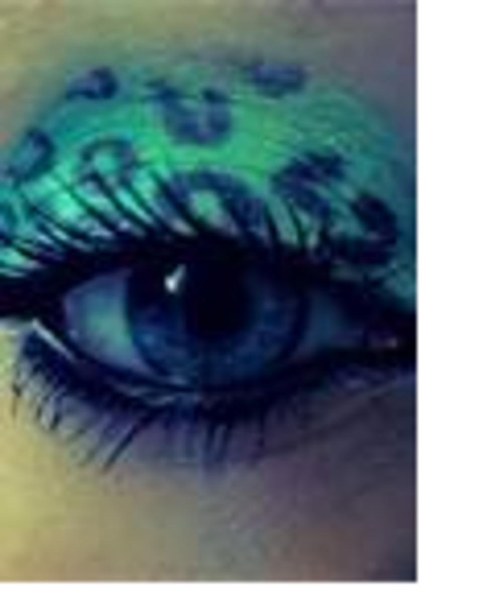 blue cheetah eye shadow
