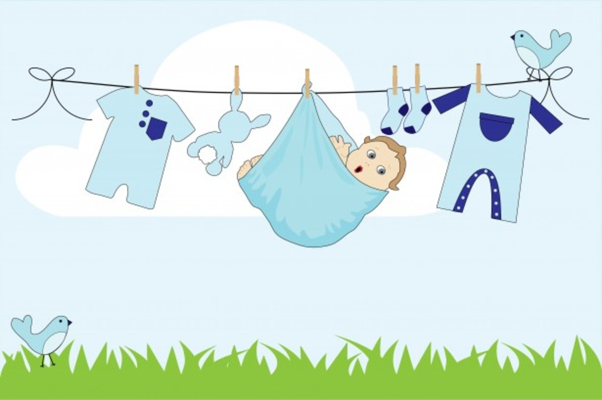 Baby Boy Clothes Line Free Stock Photos