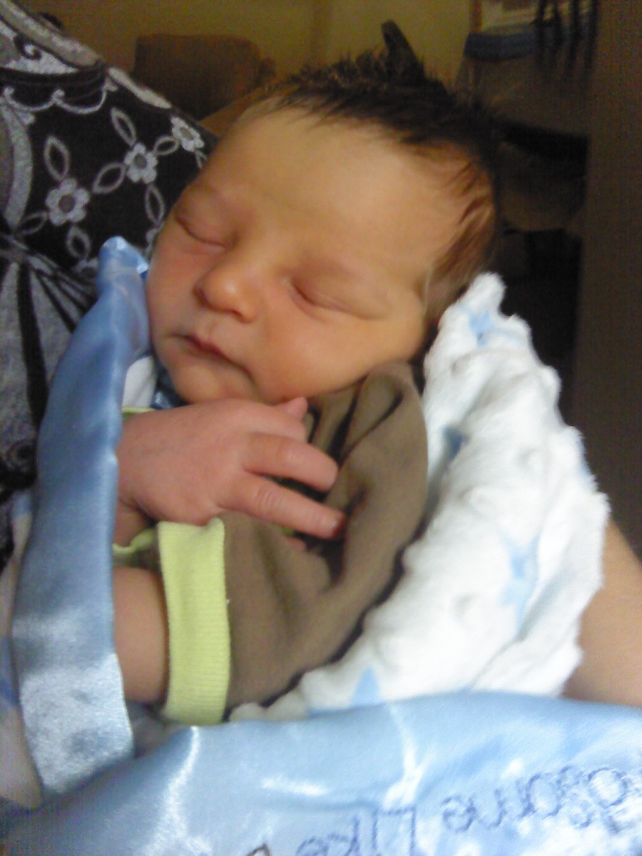 My new grandson arrived on Wednesday, October 10, 2012!  Such a little sweet angel from above.