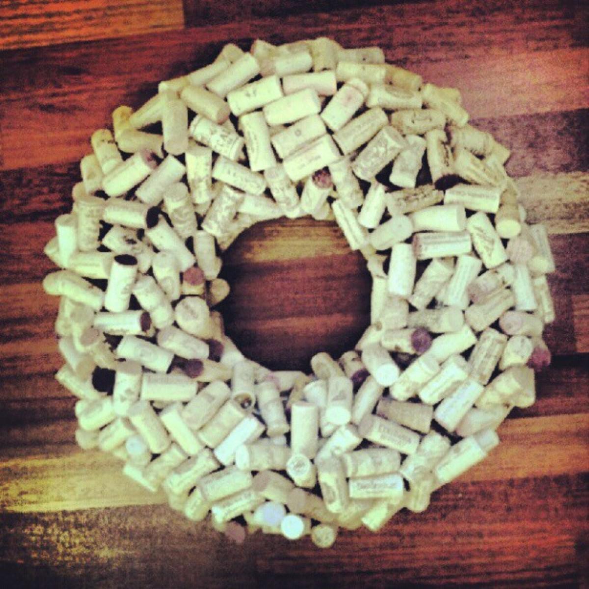 Plain cork wreath