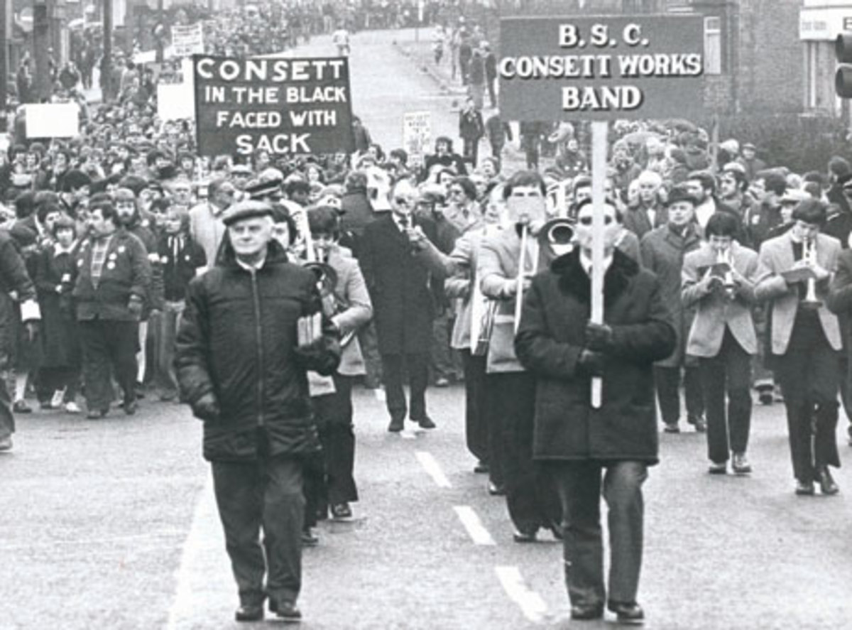 Anti-closure protest march, 1979 - in Maggie's sights even as she set foot in No.10. The works would not see out another year