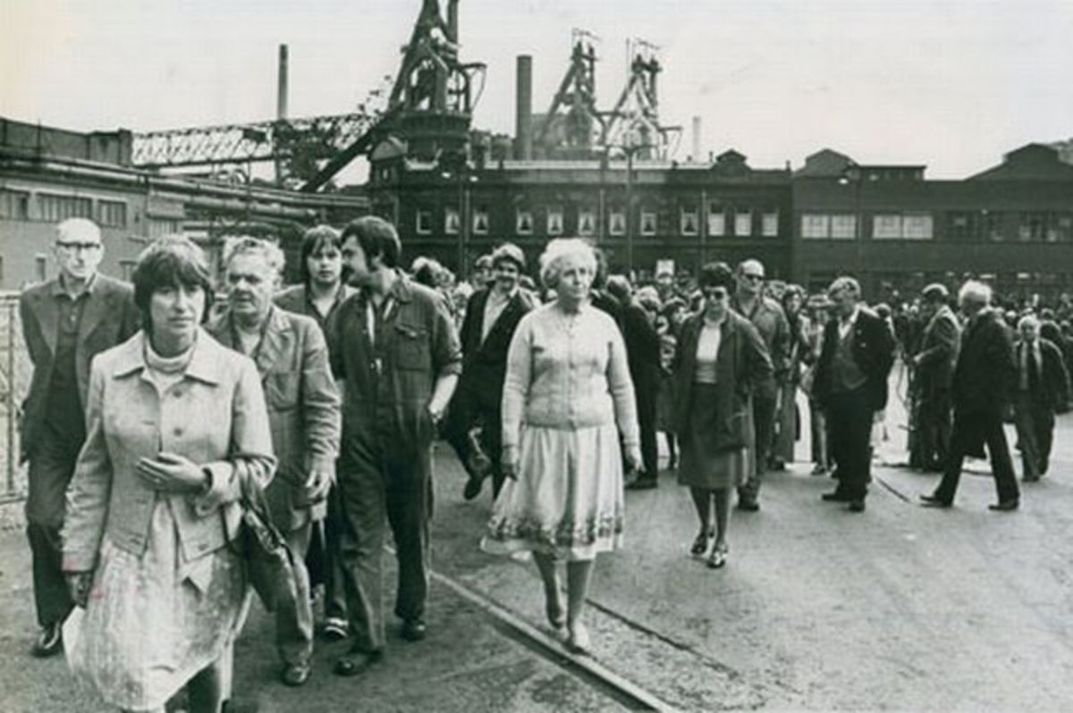 1980 - Closure! Many towns in the north were faced with a downhill spiral after pit and works closures - factories built later on the site would never provide the same employment prospects, although closure was long on the cards on cost only