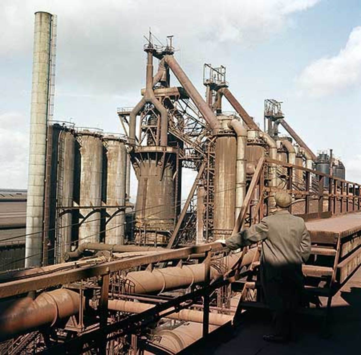 De-commissioned blast furnaces at Consett after closure in 1980. Great subject for photographic journalists, yesterday's news for most, the heart torn out of the community