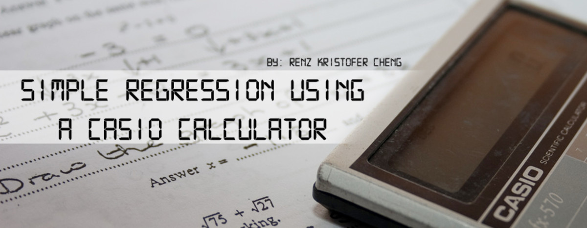 How to Do a Simple Regression using a Casio Calculator