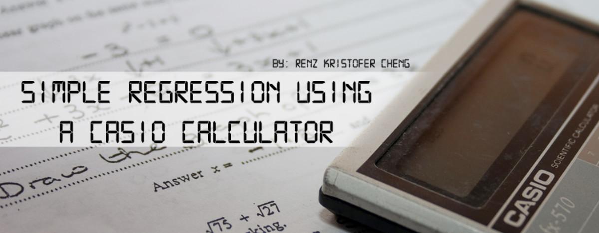 Doing regression analysis using a CASIO calculator