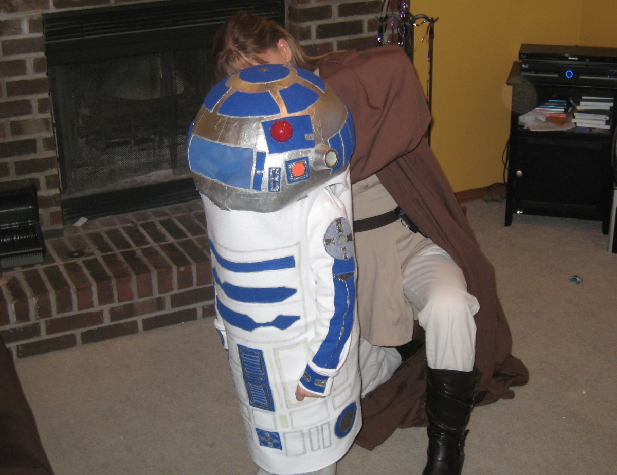 This photo really shows some of the detailing on the R2D2 head.