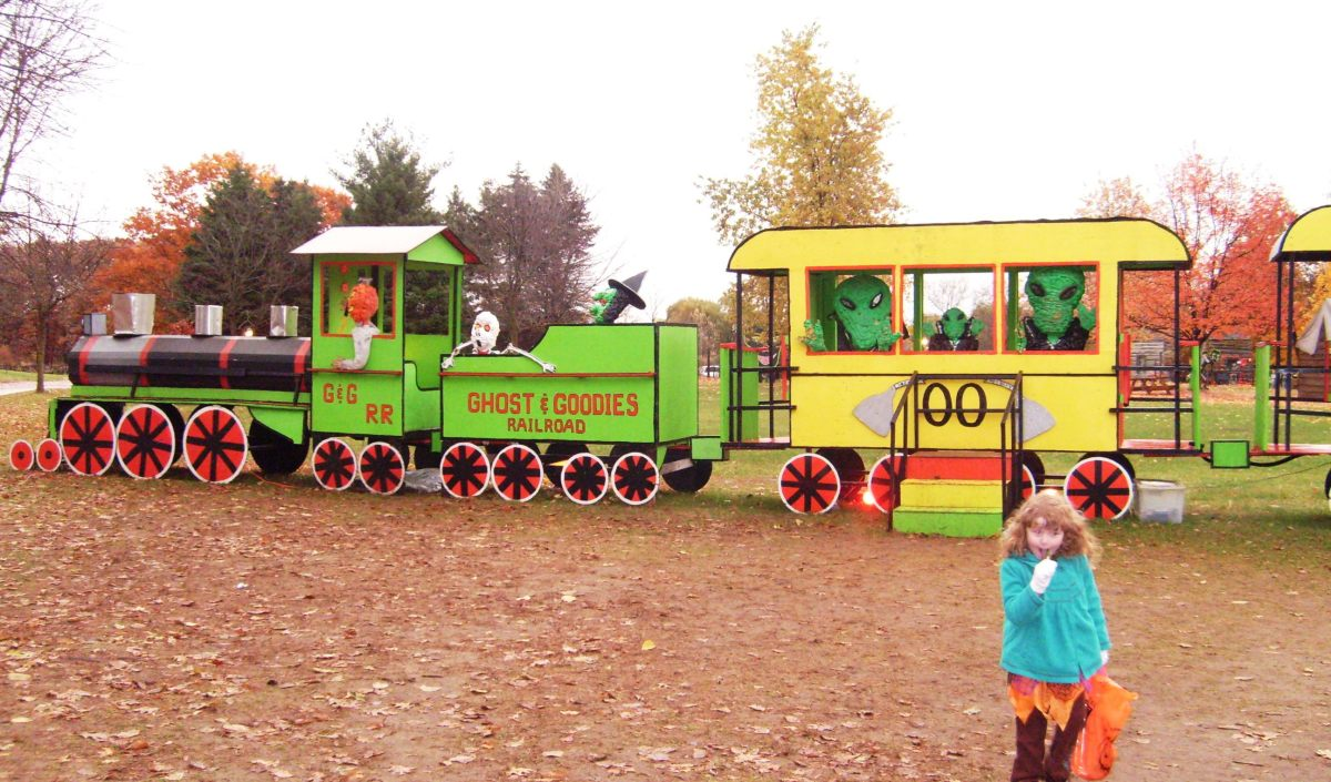 "The ""Ghosts & Goodies Railroad"" of Crossroads Village, mimicking the real Huckleberry Railroad."
