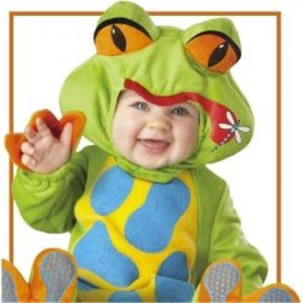 This adorable frog costume is featured below.