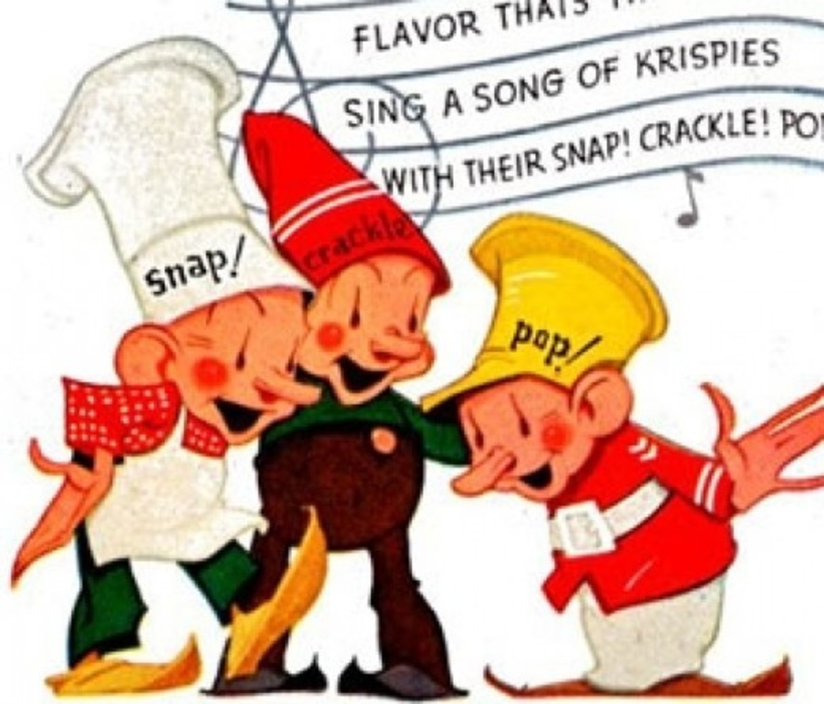 In the 1930s the mascots looked more elfish, with exaggerated noses