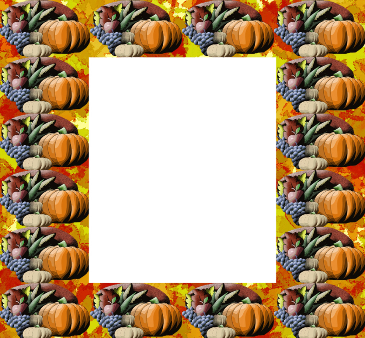 Thanksgiving cornucopia clip art frame