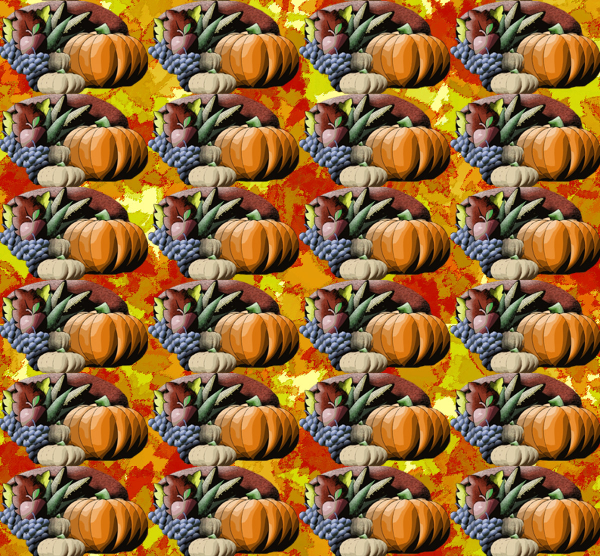Thanksgiving cornucopia pattern.