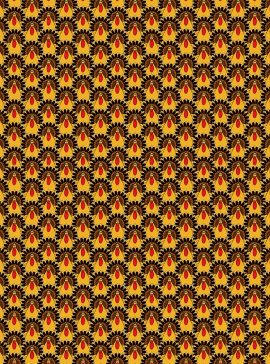 Thanksgiving turkeys scrapbook paper pattern.