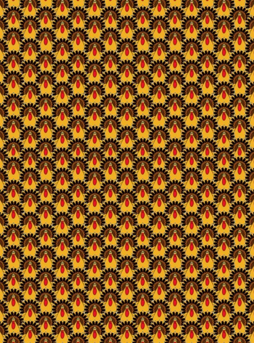 Thanksgiving turkeys scrapbook paper pattern.
