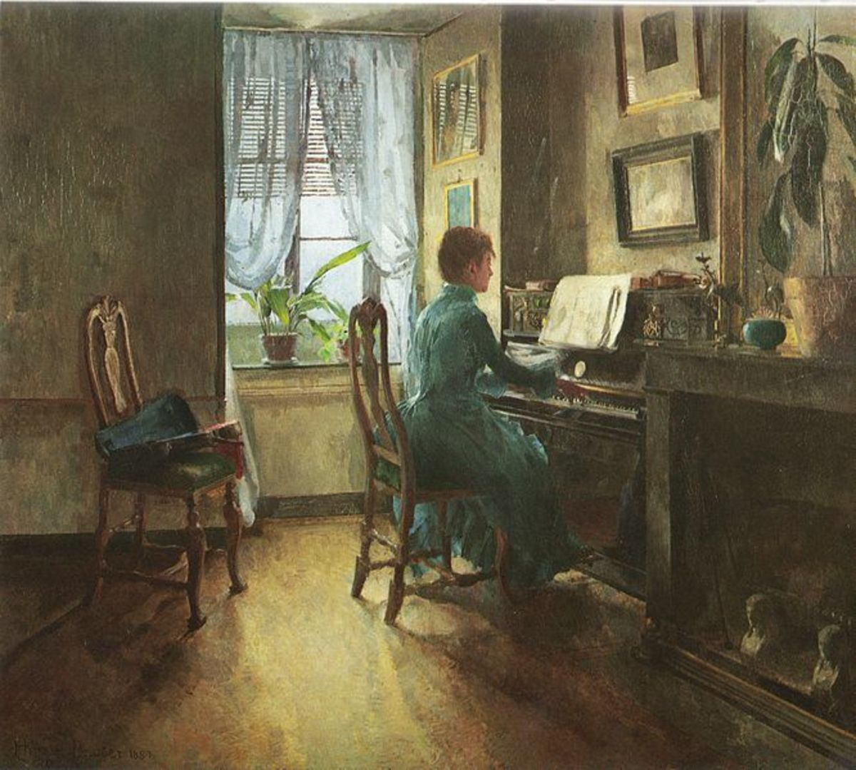 The Artist's Home (1887) is in the public domain in the United States and those countries with a copyright term of life of the author plus 70 years or less.