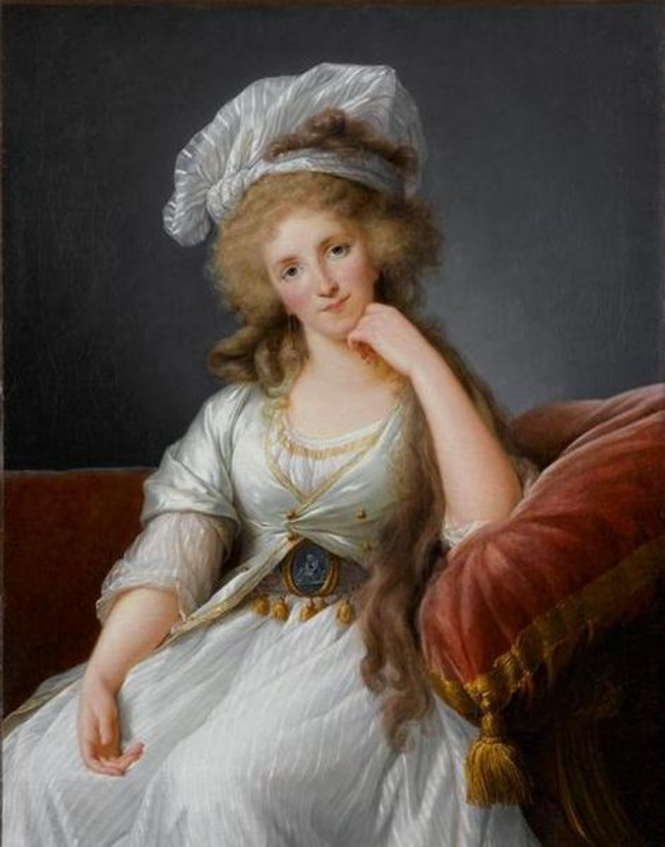 Portrait of Louise Marie Adélaïde de Bourbon, Duchess of Orléans is in the public domain in the United States and those countries with a copyright term of life of the author plus 100 years or less.