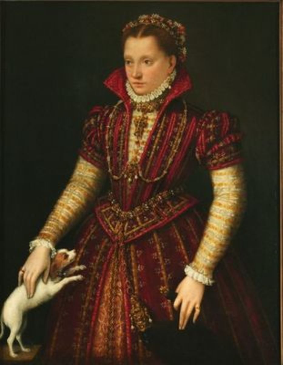 Portrait of a Noblewoman (circa 1580) is in the public domain in the United States and those countries with a copyright term of life of the author plus 100 years or less.