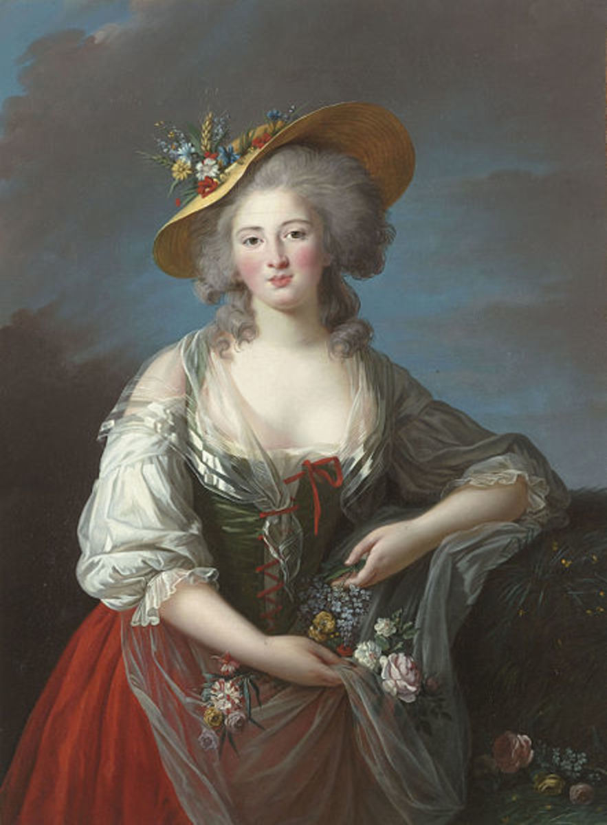 Portrait of Princess Élisabeth of France (circa 1782) is in the public domain in the United States and those countries with a copyright term of life of the author plus 100 years or less.