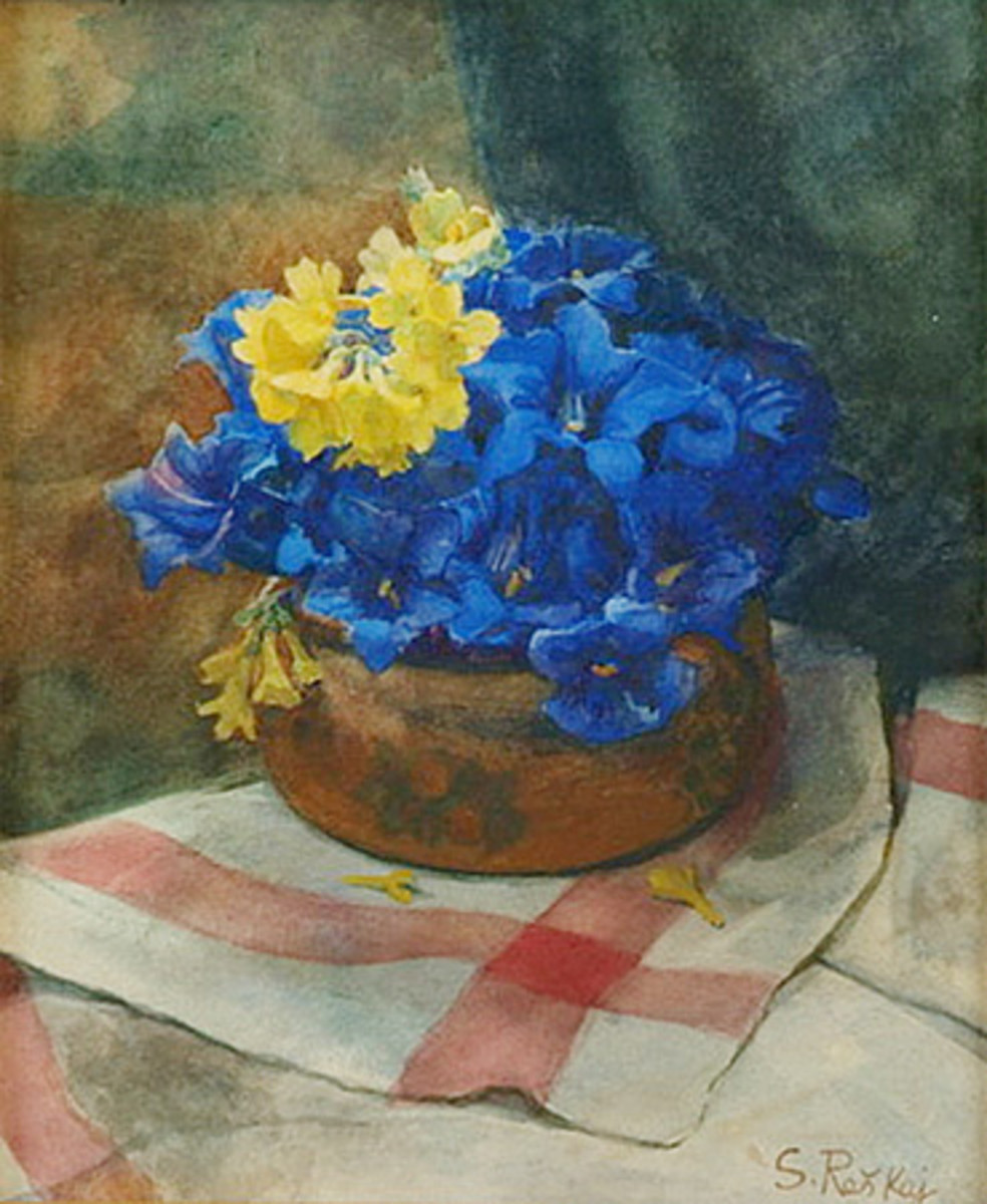 Flowers (circa  1890) is in the public domain in the United States and those countries with a copyright term of life of the author plus 70 years or less.