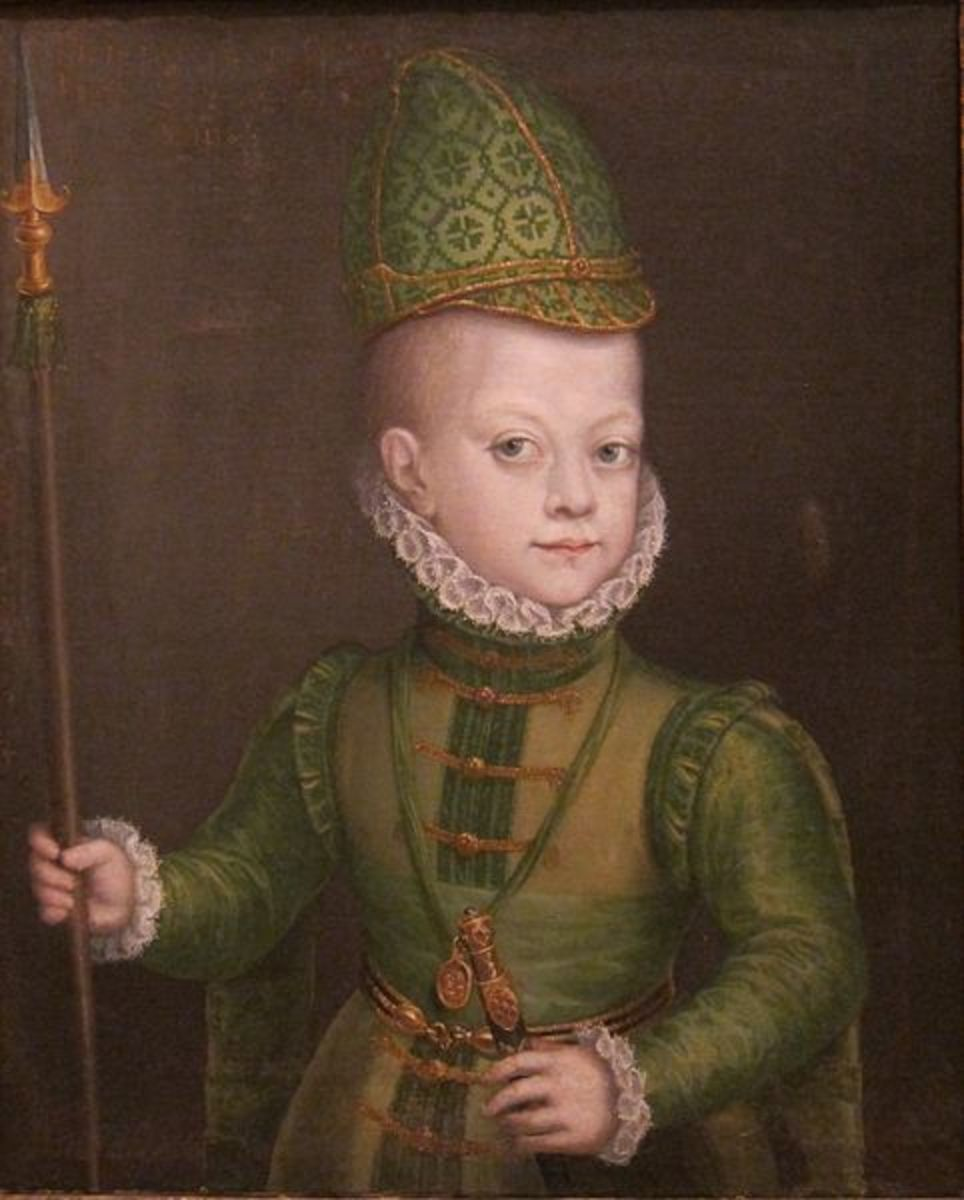 Portrait of a Boy at the Spanish Court (circa 1565-1570) is in the public domain in the United States and those countries with a copyright term of life of the author plus 100 years or less.