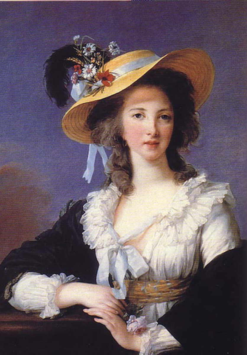Portrait of Gabrielle de Polastron, Duchess of Polignac (circa 1782) is in the public domain in the United States and those countries with a copyright term of life of the author plus 100 years or less.