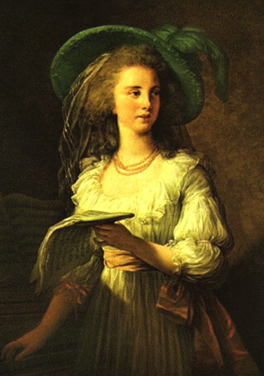 Portrait of Gabrielle de Polastron, Duchess of Polignac (1783) is in the public domain in the United States and those countries with a copyright term of life of the author plus 100 years or less.