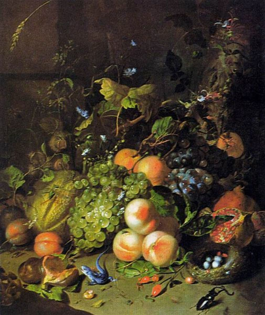 Fruit Still-Life is in the public domain in the United States and those countries with a copyright term of life of the author plus 100 years or less.