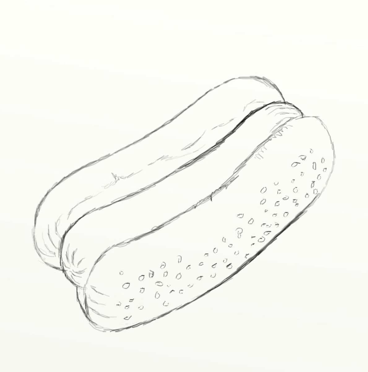 how to draw a hot dog step by step