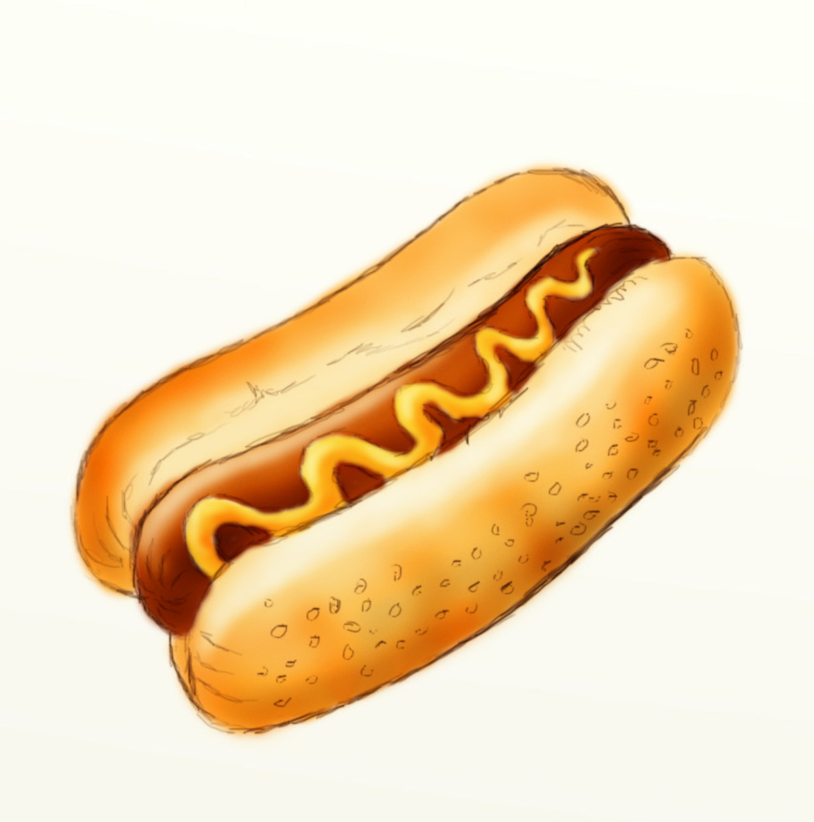 How to draw a hot dog