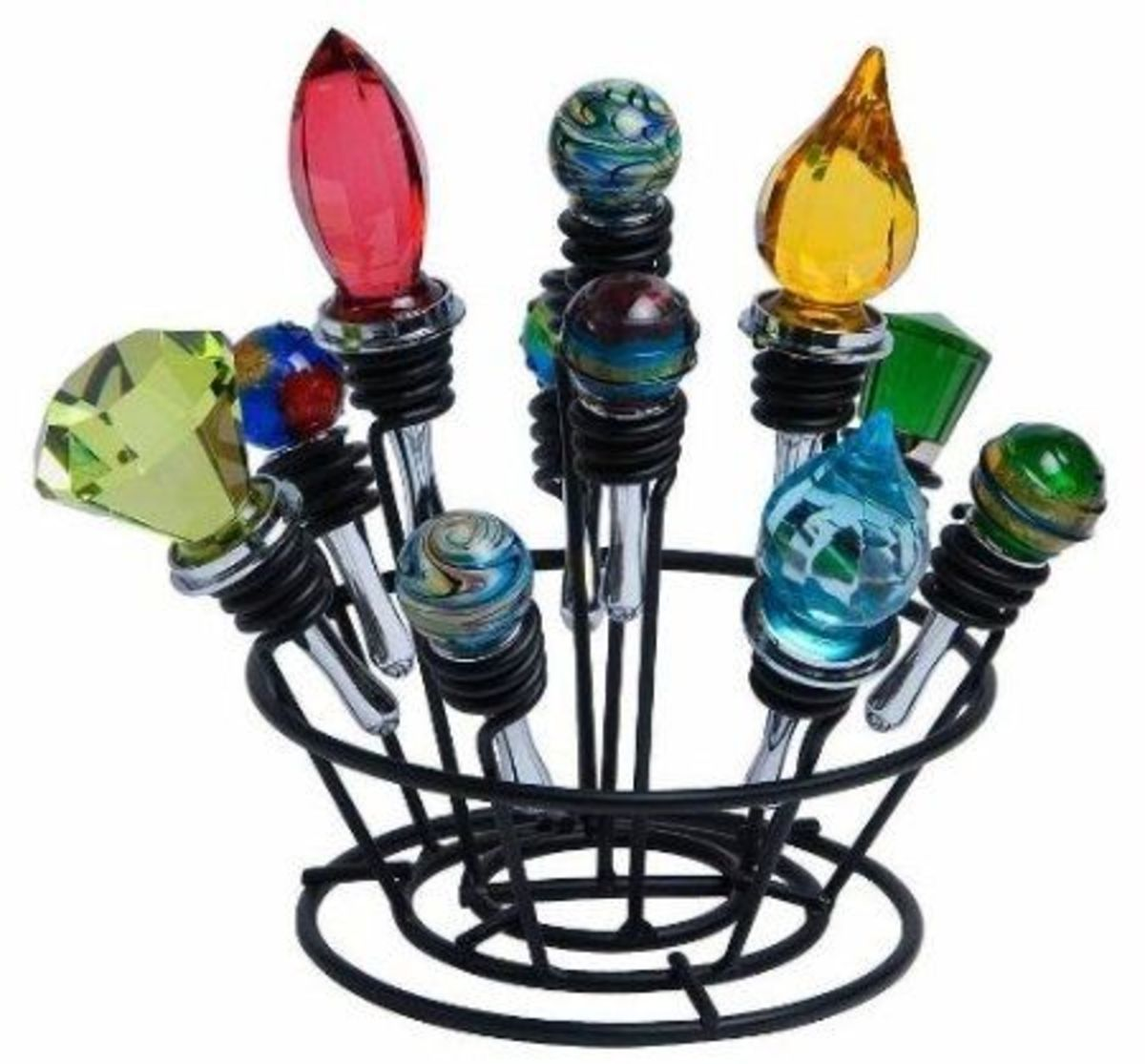 Wine Bottle Stopper Bouquet Display, Rack, or Stand - Storage Rack